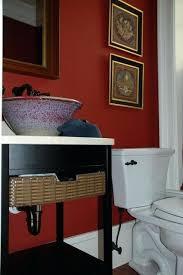 modern bathroom sink bowl. red bathroom sink oriental flair powder room modern bowl vessel u