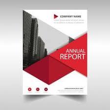 modelo de relatório anual geométrica vermelho vetor grátis
