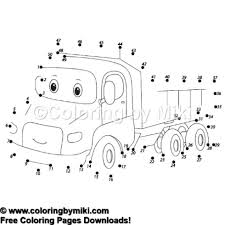 Dot To Dot Game Cartoon Track Coloring Page 1085 Coloring By Miki