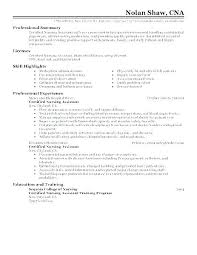 Sample Resume Cna