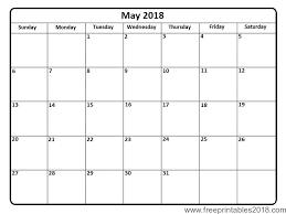 Free Printable Calendar May 2018 | Free Printables 2018