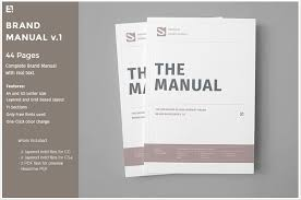 10 Professional Brand Manual Templates To Promote Brand