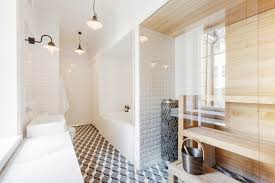 Cool Sauna Design With Shower For Small Bathroom Ideas