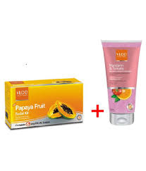 vlcc papaya kit 60gm with mandarin and tomato natural fairness face wash 75ml free