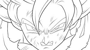Small Picture Dragon Ball Z Coloring Pages dragon ball z goku super saiyan 2