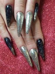 Eye Candy Nails & Training - Sculptured stilettos with black and ...