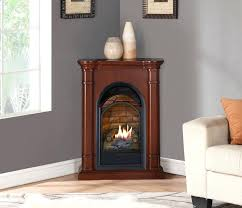 procom gas heater forge dual fuel fireplace with mantel t stat walnut finish procom gas fireplace
