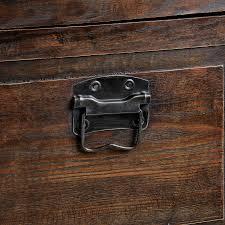 Set of Three Wooden Antique Effect Flat Top Trunks - London Trunk ...