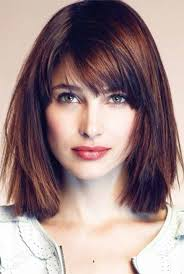 Hairstyles With Blunt Fringe 25 Best Ideas About Medium Haircuts With Bangs On Pinterest