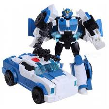 Robot Size Chart Transformation 4 Robot Car Model Toy For Boy Kids Blue