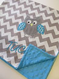 Best 25+ Owl baby quilts ideas on Pinterest | Baby quilts, Baby ... & Personalized Baby Blanket Aqua Minky Blanket- Chevron Baby Blanket-  Applique Baby Blanket- Owl Baby Blanket- Design Your Own Blanket Adamdwight.com