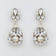 baby bridal chandelier earrings with pearls