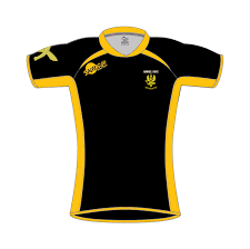 rugby shirt style e black amber
