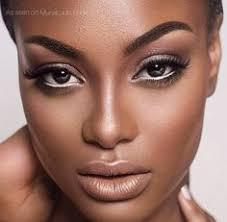 flawless full face makeup on dark skin stunning