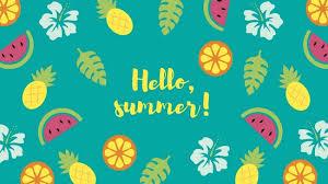blue tropical summer desktop wallpaper