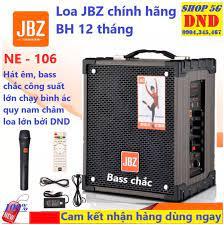Loa kéo di động JBZ NE-106, loa karaoke 2 tấc, công suất max 120W, hát
