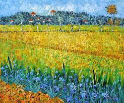 the field with irises near arles is one of dutch artist van gogh s most famous paintings believed to have been the first of the 130 paintings the artist