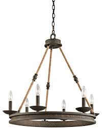 kichler lighting 43423oz kearn olde bronze 6 light chandelier