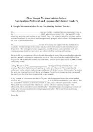 Letter Of Recommendation Teacher Sample Template Of Recommendation Reference Letter For New