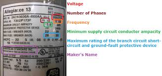 air conditioning central air conditioner electrical disconnect example plate