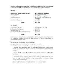 Sample Budget Plan For Non Profit Non Profit Proposal Template Grant Sample For Organization