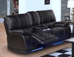 Dylan Power Reclining Sofa Black Big s Furniture Store Las Vegas