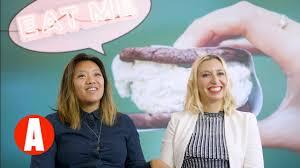 Lesbians having fun cream
