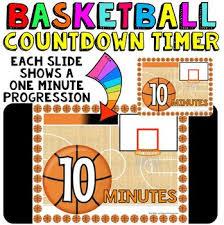 Ten Minutes Countdown Timer Countdown 10 Minutes Or Less Basketball Theme Fun For