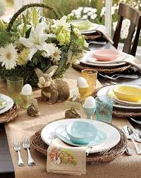 unique easter dinner table decorations