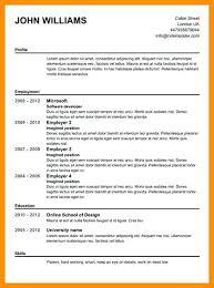 Online Resume Examples Resume Templates Free Online Resume Writer