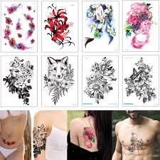 поддельные водонепроницаемый временный боди арт татуировки наклейки цветок