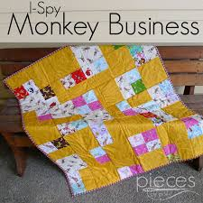 Pieces by Polly: I Spy ... Monkey Business Quilt & Monkey Business Quilt Adamdwight.com