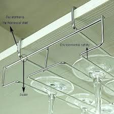 wine glass rack under cabinet wine glass stemware rack ikea grundtal wine glass rack