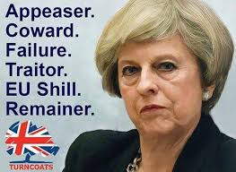 Image result for brexit may traitor