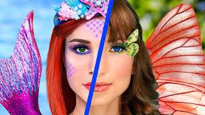 makeup challenge 8 diy mermaid makeup vs erfly makeup