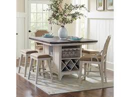 Avalon Furniture Mystic Cay 7 Piece Kitchen Island Table Set Zaks