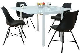 5tlg Essgruppe Esstisch Esszimmer Stuhl Stühle Holz Glas Tisch Sitzgruppe