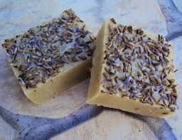 homemade shampoo bar with lavender and clay soap for hair