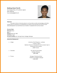 11 Resume Samples Philippines Resume Examples Pinterest Job