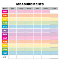 Monthly Weight Loss Chart Weight Loss Monthly Measurement Chart Creating Me Pinterest
