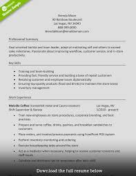 Resume Sample With Skills How to Write a Perfect Barista Resume Examples Included 38