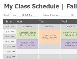 Sample College Class Schedule Example Of College Class Schedule Rome Fontanacountryinn Com