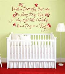 items similar to erfly kiss ladybug hug vinyl wall decal baby baby girl wall decals es