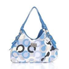 Coach Fashion Signature Medium Blue Shoulder Bags CEQ  Coach0A1898  - Coach  Fashion Signature Medium Blue Shoulder Bags CEQ Product Details With a …