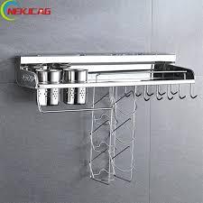 wall mounted kitchen shelves kitchen storage bracket chrome polish wall mounted kitchen rack kitchen shelf cooking