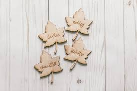 Fall Place Cards Thanksgiving Table Place Cards Fall Place Cards Leaf Place Cards Wooden Place Cards