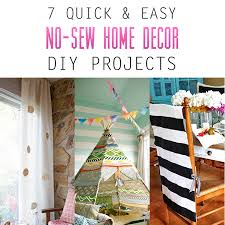 7 Quick and Easy No-Sew Home Decor DIY Projects