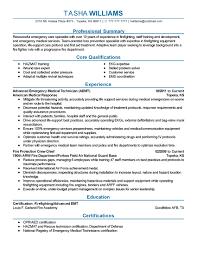 Emergency Medical Technician Resume Template Emt Sample