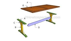 trestle table plans howtospecialist