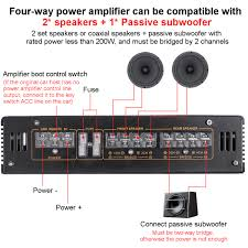 6800W Max 4 Channels Car Sound Amplifiers Class A/B Home Subwoofer Audio  Stereo Bass Speaker Automotive Audio Amplifiers|Mono Amplifiers
